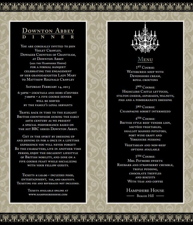 Downton Abbey Formal Invitation