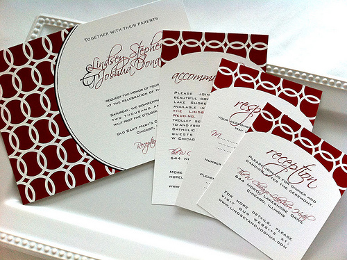 circle wedding invitation photo