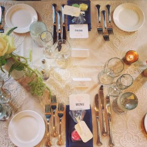 Classic table settings. With simple silver or gold silverware crisp white plates and elegant stemware classic table settings are a tried-and-true trend ... & Wedding Trends 2017: Types of Table Settings - Hampshire House Blog