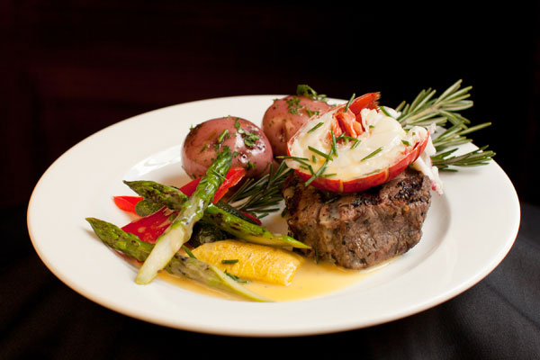 Beef Tenderloin and Split Lobster Tail Entree - Hampshire House Boston