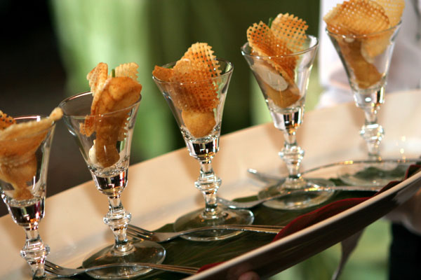 Beer Battered Fish and Chips Appetizer Cups - Hampshire House Boston