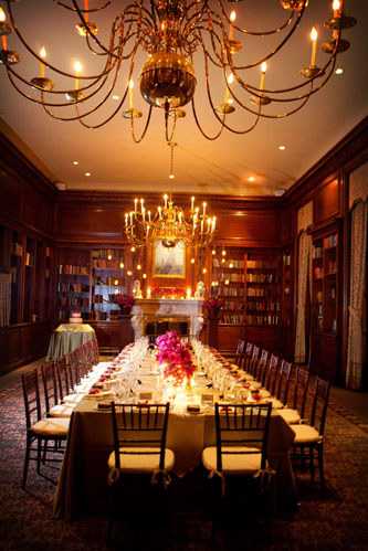 Library Dinner Party for 20 Guests - Hampshire House Boston