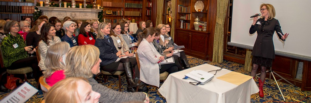 Beacon Hill Women's Forum meeting at the Hampshire House. Image from BHWF website.
