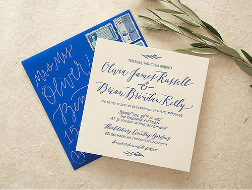 wedding calligraphy photo