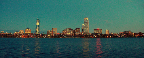 boston skyline photo