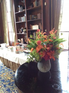 dessert station & fall flowers