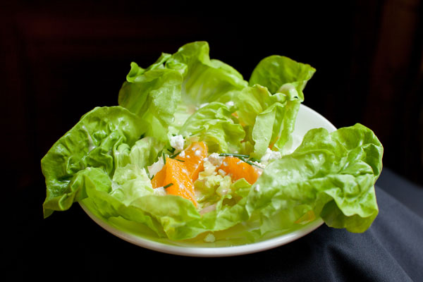 Bibb Lettuce, Orange and Goat Cheese Salad - Hampshire House Boston