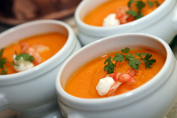 Creamy Organic Chantenay Carrot Soup - Hampshire House Boston