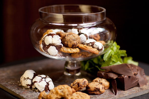 Freshly Baked Cookies in an Elegant Jar Display - Hampshire House Boston