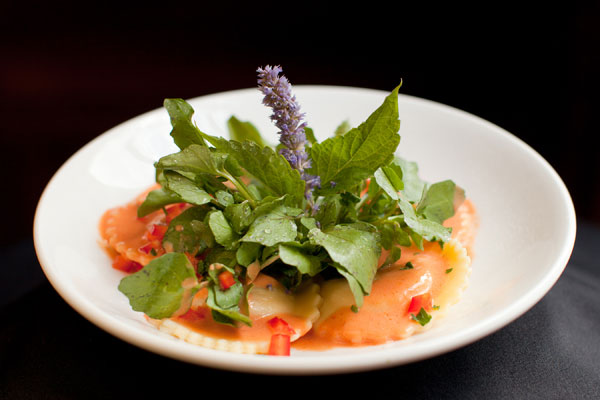 Fresh Handmade Lobster Ravioli with Cream Sauce - Hampshire House Boston