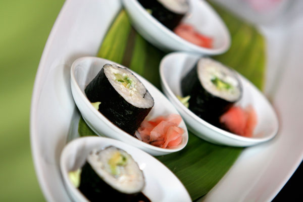Freshly Made California Rolls - Hampshire House Boston