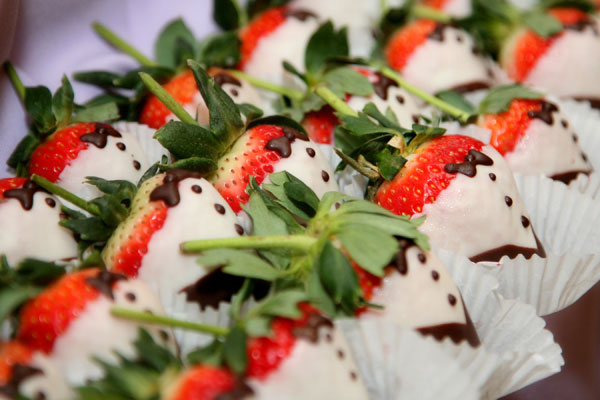 Tuxedo Dipped White Chocolate Strawberries - Hampshire House Boston