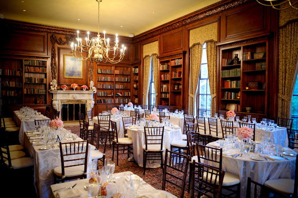 Dinner Party for 100 Guests in the Library - Hampshire House Boston