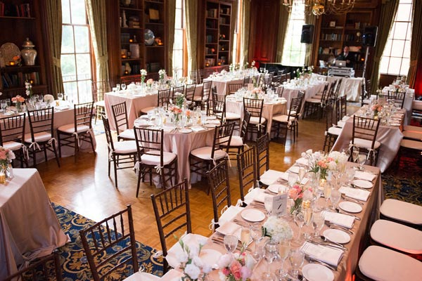 Formal Dinner Reception in the Library - Hampshire House Boston