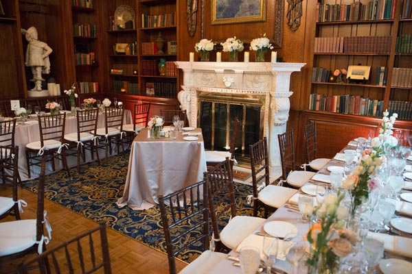 Bride and Groom's Table in the Library - Hampshire House Boston