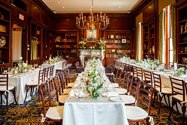 Celebration in the Library - Premier Wedding Venue - Hampshire House Boston
