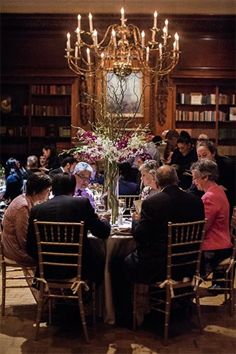 Library Set with Round Tables for 100 Guests - Hampshire House Boston