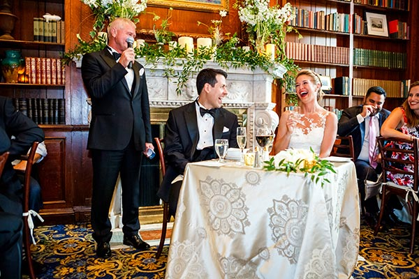 Best Man's Speech - Wedding Reception in Library - Hampshire House Boston