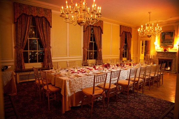 Dinner for 24 in the Thayer Room with Chandeliers - Hampshire House Boston